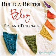 Blogging tips and tutorials from a really cute blog