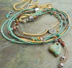 Hey, I found this really awesome Etsy listing at https://www.etsy.com/listing/268190793/southwest-heart-turquoise-multi-strand