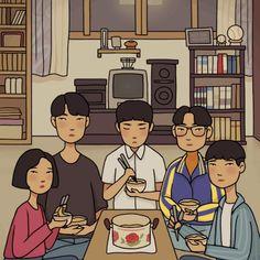 New post on anna--adore Korean Art, Korean Drama, Aesthetic Art, Aesthetic Anime, Park Bo Gum Reply 1988, K Drama, Cute Cartoon Wallpapers, Kawaii Art, Cute Illustration