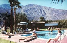 """Originally called L'Horizon, The Horizon Hotel is situated on two and a half acres, featuring glorious views of the San Jacinto Mountains and spacious outdoor areas for recreation. The hotel was designed in 1952 by William F. Cody for the television producer, media mogul, oil tycoon and legendary hotel owner Jack Wrather (producer of Lassie and The Lone Ranger) and his wife, Hollywood actress Bonita """"Bunny"""" Granville, as a retreat for their family and Hollywood friends."""