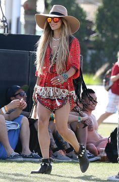 Vanesa Hughes en #Coachella 2014.  #moda #fasion