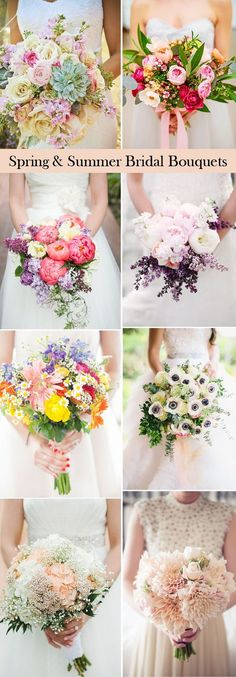 Swoon Worthy #Wedding Bouquets Ideas for Spring & Summer Brides.