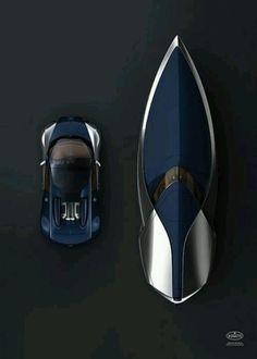 Bugatti speed boat & car