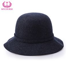 105983e3c3b Find More Bucket Hats Information about MYCOURSE Women Ladies Bow Wool  Imitation…