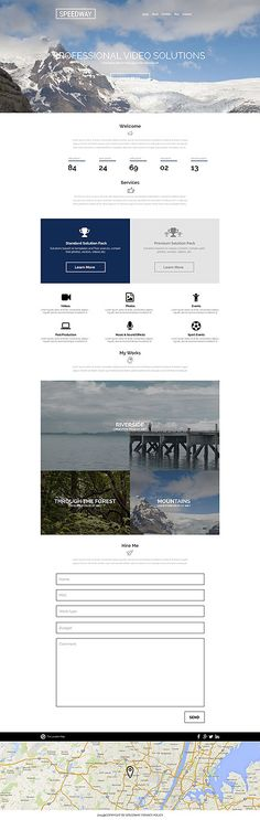 Professional Video Solutions Site #WordPress #template. #themes #business #responsive