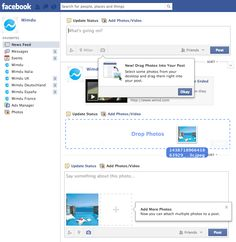 Facebook añade funcionalidad de arrastrar-soltar para subir imágenes