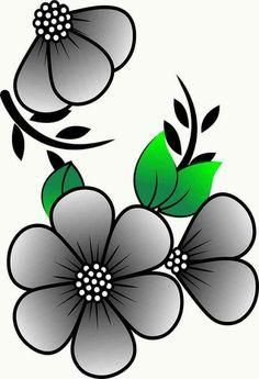 Simple Flower Design, Simple Flowers, Flower Designs, Front Page Design, Little Heart Tattoos, Bd Art, Rock Flowers, Cute Disney Drawings, Beadwork Designs
