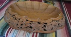 Teak Wooden Carved Bowl or Wall Decor