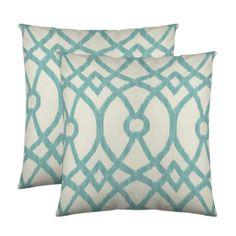 Piper Decorative Pillow Pair - AQUA