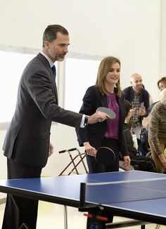 King Felipe VI of Spain (L) and Queen Letizia of Spain attend the National Paraplegics Hospital 40th Anniversary on 10.02.2015 in Toledo, Spain