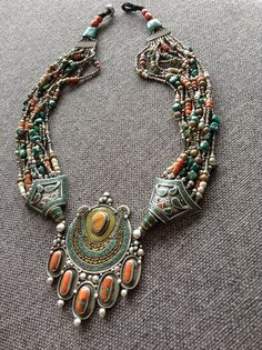 Tibetan Vintage Ethnic Necklace coral by Shebastreasures651