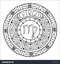 Zodiac Sign of Virgo : Shutterstock 350998826
