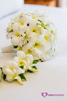 Frangipani bouquet by Fiji Weddings