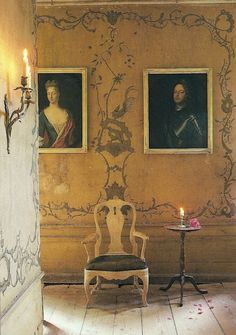 Lars Sjoeberg The Swedish Room Photo credit Ingalill Snitt Source 5 Faux Wall Painting Techniques That Are Easier Than You Think Swedish Interiors, Diy Flooring, Faux Painting Walls, Swedish Design, Swedish Decor, Wall Painting, Faux Walls, Decorative Painting, Diy Wood Floors