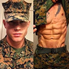 Ok well, it looks like I need me a military man! For more photos, gifs, and videos of gorgeous men, head to Hot Army Men, Sexy Military Men, Cute White Boys, Cute Boys, Hommes Grunge, Hot Cops, Hunks Men, Men In Uniform, Shirtless Men