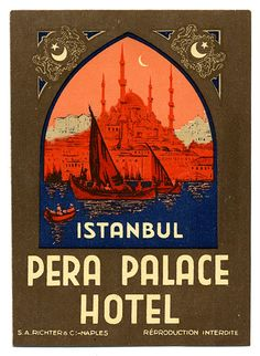 pera palace hotel : where agatha christie wrote 'on the orient express' —will take ma here :)