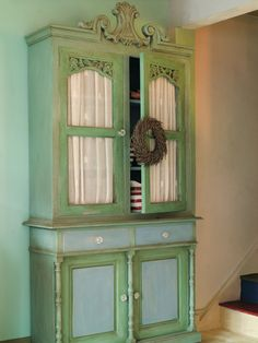 Antibes Green with Duck Egg Blue.  I have a dresser with these colors in its future.