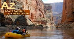 This website describes the upper and lower parts of the Grand Canyon including popular sites while rafting and where different rapids are located.