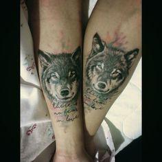49 Wolf Couple Tattoo