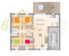 Modèle de maison Open Sud PP GI accès Nord 94 so design proposé par Les Maisons de Manon. Retrouvez tous les types de maison à vendre en France sur www.construiresamaison.com >>>