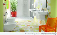 Perfect Colorful Bathrooms On Bathroom With 15 Lively Multi 8