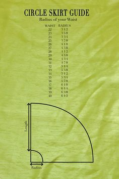 Figure out how much fabric you need. You will need enough fabric to fold twice: once hot dog style (salvage to salvage), and then hamburger style, with a little left over for your waistband. The pa…Circle skirt tutorial - Woven fabric with waistban Sewing Hacks, Sewing Tutorials, Sewing Crafts, Sewing Projects, Sewing Tips, Pattern Drafting Tutorials, Sewing Ideas, Dress Tutorials, Diy Circle Skirt