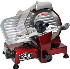New KWS Premium Electric Meat Slicer Red Stainless Steel Blade, Frozen Meat Deli Meat Cheese Food Slicer Low Noises Commercial Home Use online - Toplikeclothes Meat And Cheese, Cheese Food, Mobile Pizza Oven, Blue Dinnerware Sets, Meat Slicers, Electric Foods, Specialty Appliances, Small Appliances, Kitchen Appliances