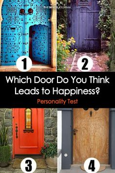 Which Door Do You Think Leads to Happiness? True Colors Personality Test, Personality Quizzes, Psychology Facts Personality Types, Interesting Facts About Yourself, Quizzes Games, Fun Test, Signs From The Universe, Psychology Fun Facts, Youth Games