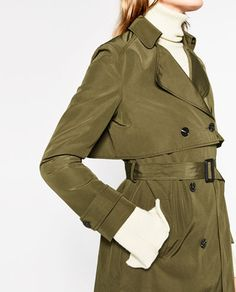 Image 6 of SHORT TRENCH COAT from Zara