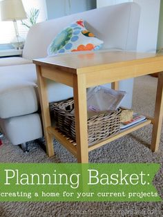 Organizing your current projects- Keep them out without creating clutter.
