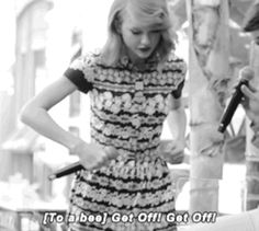 And when she interrupted an interview to yell at a bee. | 27 Times Taylor Swift Failed So Hard She Almost Won