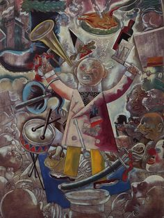 George Grosz (German, American [Dada, Neue Sachlichkeit] The Agitator. Oil on canvas. 108 x 81 cm. Art Works, Art Painting, German Expressionist, German Expressionism, Degenerate Art, Painting, Online Art, Art, German Art