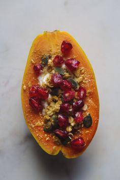 Papaya Boats x 6 ways Papaya Recipes Dessert, Smoothie Recipes, Papaya Smoothie, Best Fruits, Us Foods, Plant Based Recipes, Easy Healthy Recipes, Boats, Breakfast Fruit