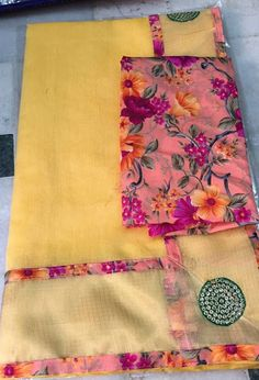 Light Weight kota Saree With floral Blouse   Buy Online Sarees   Elegant Fashion Wear