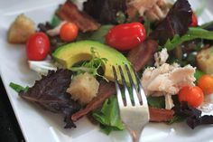 These Bacon Chicken Avocado BLT Salads look just wonderful. (Can you ...