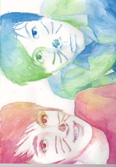 Dan and Phil watercolor (feel free to repin)