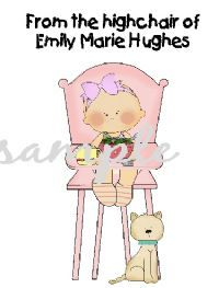 Carries Kiddie Closet From The Highchair of ... personalized note card gifts