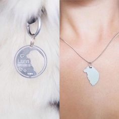 23 Fantastic Dog Tag Slide On Collar Best Picture For Dog Accessories display For Y Jewelry Tags, Dog Jewelry, Art Deco Jewelry, Animal Jewelry, Pandora Jewelry, Fine Jewelry, Dog Accessories, Accessories Display, Pet Memorials