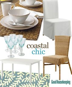 Coastal Chic mood board for 2011 DIY Blog Cabin GH Dining Room vote