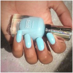 "Sally Hansen complete salon manicure ""barracuda"" #CSMHaveitall pretty blue. (Complimentary for testing purposes from influenster)"