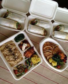 veggie wrap, lunch box & SHOJIN YAKINIKU DON   http://erbenmu.com/