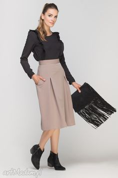 Čierna blúzka s volánmi a dlhým rukávom - ROUZIT. Blouses For Women, Midi Skirt, High Waisted Skirt, Spandex, Casual, Skirts, Clothes, Shopping, Steam Iron