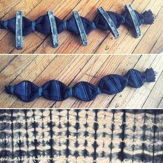 Shibori: subtle chevron pattern by mala_made / #indigo
