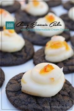 Chewy Brownie Cookie with Orange Marmalade Cream Cheese | Big Bang Bites | bigbangbites.com
