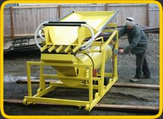 Portable Gold Recovery Trommel.