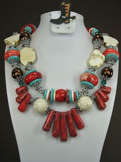 """Southwestern Inspirations"" SOUTHWESTERN STYLE  Cowgirl Necklace  by www.CayaCowgirlCreations.etsy.com - $60.00"