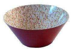 Amazon.com: Present Time Popcorn Print Melamine Bowl, Large: Kitchen & Dining