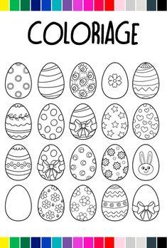 Pour #Pâques, on donne de la couleur aux œufs #coloriage #notrefamille