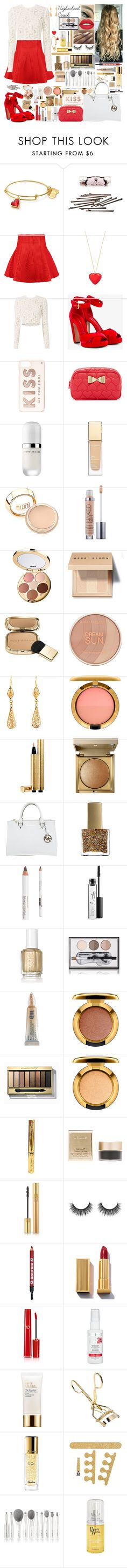 """Highschool Crush"" by girlygirlprincess ❤ liked on Polyvore featuring L. Erickson, Maje, Kate Spade, A.L.C., Alexander McQueen, Betsey Johnson, Marc Jacobs, Clarins, Urban Decay and tarte"