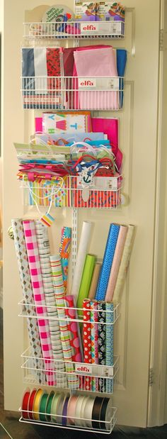 In my quest to get my disaster of a house just slightly organized and more liveable, I finally executed a Pinterest wrapping station idea- I...